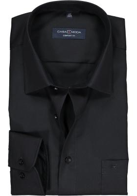 Casa Moda Comfort Fit overhemd, mouwlengte 7, zwart