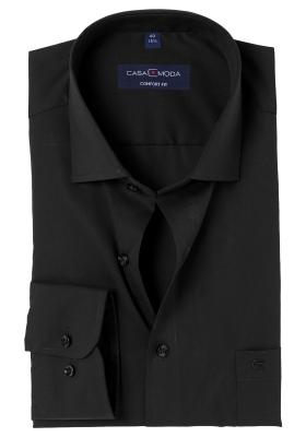 Casa Moda Comfort Fit overhemd, mouwlengte 72, zwart