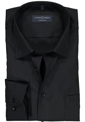 CASA MODA comfort fit overhemd, mouwlengte 72 cm, zwart