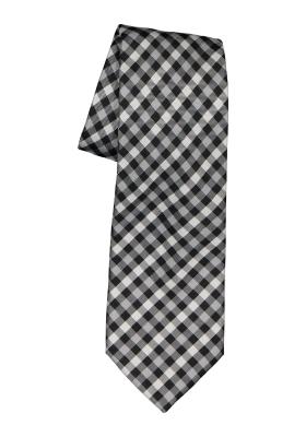 Michaelis stropdas, zwart-wit geruit