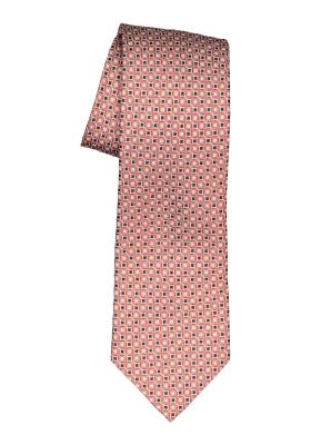 Michaelis stropdas, oranje, zwart wit dessin das