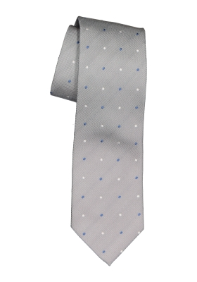 Michaelis stropdas, grijs met stipjes