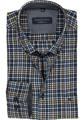 Casa Moda Sport Comfort Fit overhemd, geruit (contrast)