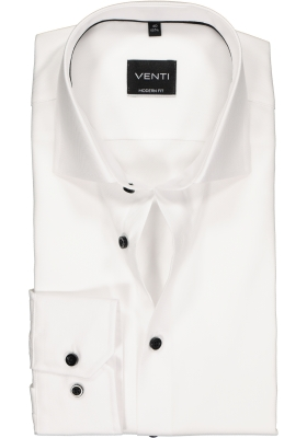VENTI modern fit overhemd, wit structuur