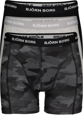 Bjorn Borg boxershorts Essential, 3-pack, Black beauty