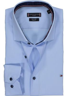 Tommy Hilfiger stretch Classic Slim Fit overhemd, lichtblauw (contrast)