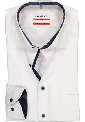 MARVELIS Modern Fit overhemd, wit (contrast)