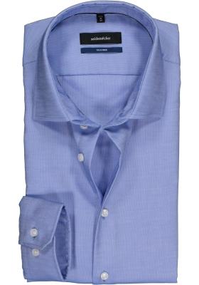 Seidensticker Tailored Fit, blauw-wit structuur
