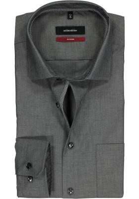 Seidensticker Modern Fit overhemd, grijs (contrast)