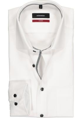 Seidensticker Modern Fit overhemd, wit (contrast)