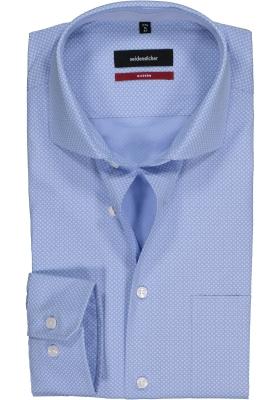Seidensticker Modern Fit overhemd, lichtblauw-wit dessin (contrast)