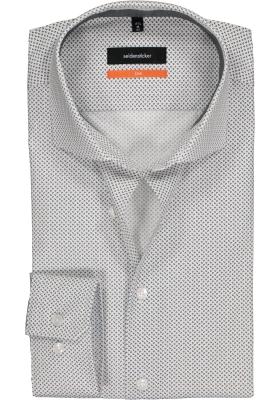 Seidensticker Slim Fit overhemd, zwart met wit dessin (contrast)