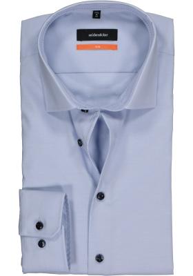 Seidensticker Slim Fit overhemd, lichtblauw (geruit contrast)