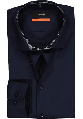 Seidensticker Slim Fit overhemd, donkerblauw (contrast)