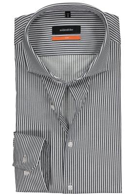 Seidensticker Slim Fit overhemd, donkerblauw-wit gestreept twill