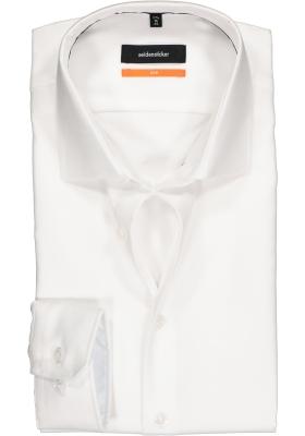 Seidensticker Slim Fit overhemd, wit structuur