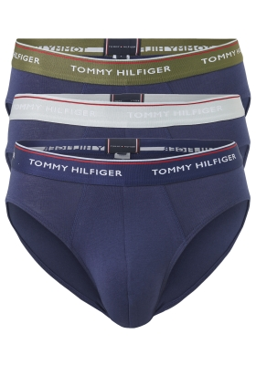 Tommy Hilfiger slips (3-pack), blauw met gekleurde tailleband
