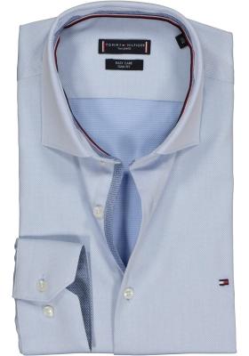 Tommy Hilfiger Dobby Classic Slim Fit overhemd, lichtblauw (contrast)
