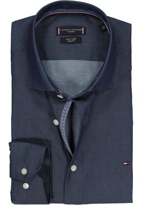 Tommy Hilfiger Twill Classic Slim Fit overhemd, donkerblauw