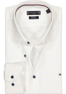Tommy Hilfiger Stretch Classic Slim Fit overhemd, wit (contrast)