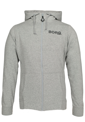 Bjorn Borg Andre hoodie jacket, sweatvest grijs melange