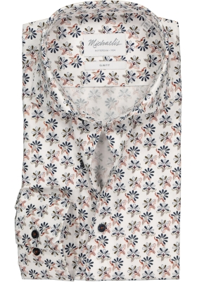 Michaelis Slim Fit overhemd, mouwlengte 7, dessin