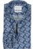 Michaelis Slim Fit overhemd, mouwlengte 7, blauw bloemetjes dessin