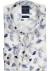 Profuomo Slim Fit overhemd, mouwlengte 7, blauw met wit dessin