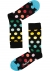 Happy Socks Big Dot Sock, zwart met stip