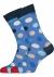 Happy Socks Big Dot Sock, blauw gestipt