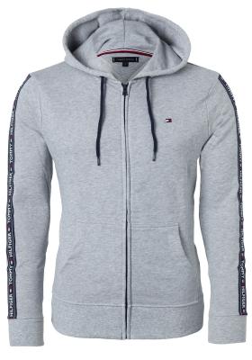 Tommy Hilfiger hoodie jacket, heren sweatvest middeldik, grijs