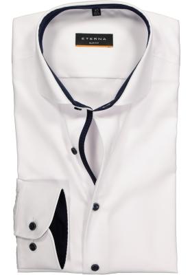 ETERNA Slim Fit overhemd ondoorzichtig, wit twill (contrast)