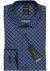 OLYMP Level 5 Body Fit overhemd, blauw dessin (contrast)