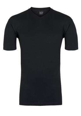 HOM Hilary T-shirt V-hals, zwart