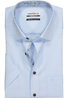 MARVELIS Comfort Fit, overhemd korte mouw, lichtblauw (contrast)