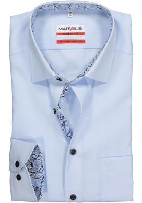 MARVELIS Modern Fit overhemd, lichtblauw (contrast)