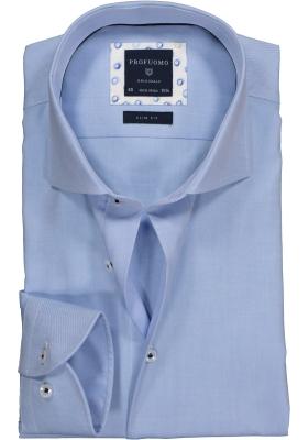 Profuomo Slim Fit overhemd, blauw twill