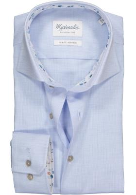 Michaelis Slim Fit overhemd, lichtblauw Oxford (contrast)