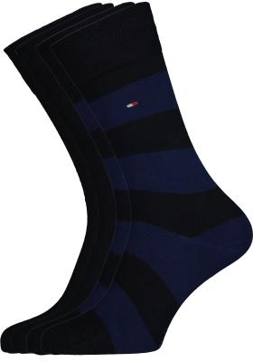 Tommy Hilfiger herensokken (2-pack), rugby blauw gestreept