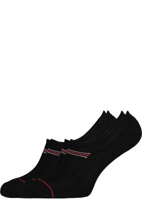 Tommy Hilfiger Iconic Sports onzichtbare sneaker sokken (2-pack), zwart