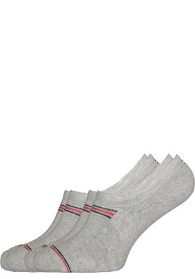 Tommy Hilfiger Iconic Sports onzichtbare sneaker sokken (2-pack), grijs