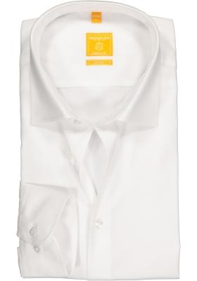 Redmond Modern Fit overhemd mouwlengte 7, wit