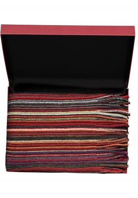 Michaelis heren sjaal in cadeauverpakking, rood gestreept