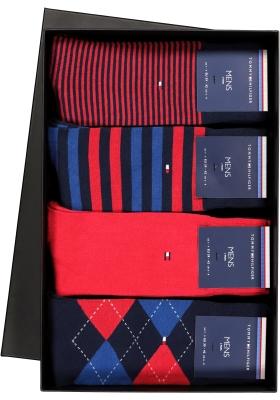 Cadeaubox: 8 paar Tommy Hilfiger Red/Blue sokken