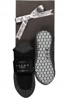 Falke Cosyshoes in geschenkverpakking, antraciet grijs