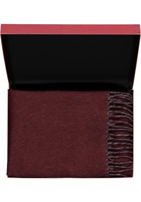 Profuomo heren sjaal in cadeauverpakking, bordeaux grijs kasjmier