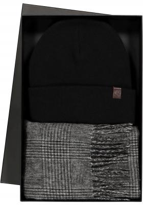 Heren cadeaubox: Michaelis Prince de Galles sjaal met muts
