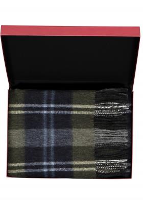 Michaelis heren sjaal in cadeauverpakking, grijs, groen en blauw geruit