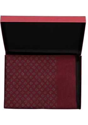 Michaelis heren sjaal in cadeauverpakking, bordeaux met grijs dessin