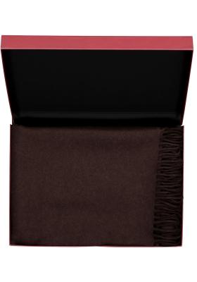 Profuomo heren sjaal in cadeauverpakking, bruin lamswol
